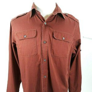 Banana Republic Men's Shirt Copper Rust Bold Butto